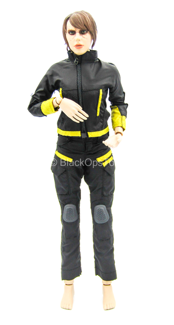 Banshee Stealth Warrior Dark Version - Black & Yellow Uniform Set
