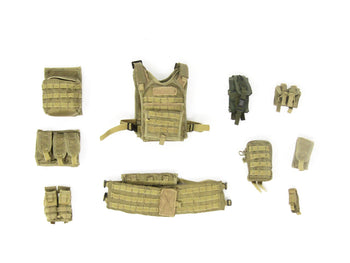 ODA Assault Team Leader Special Forces Desert Tan Vest & Pouches Set