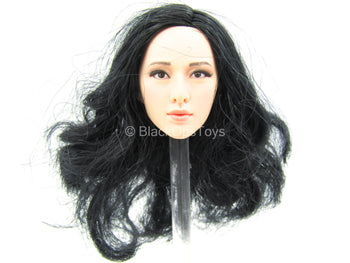 Female Dress Set - Female Asian Long Black Hair Head Sculpt Type 2