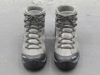 U.S. Army Green Beret ODA721 - Grey Combat Boots (Peg Type)