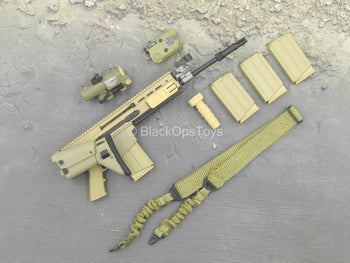 U.S. Army Green Beret ODA721 - Scar-H Assault Rifle w/Attachment Set