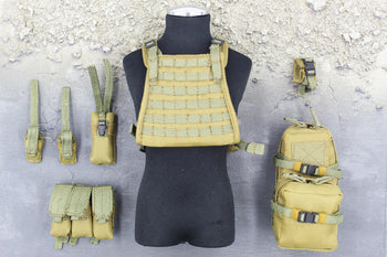 Marc A. Lee - Seal Team 3 - Tan MOLLE Plate Carrier & Pouch Set