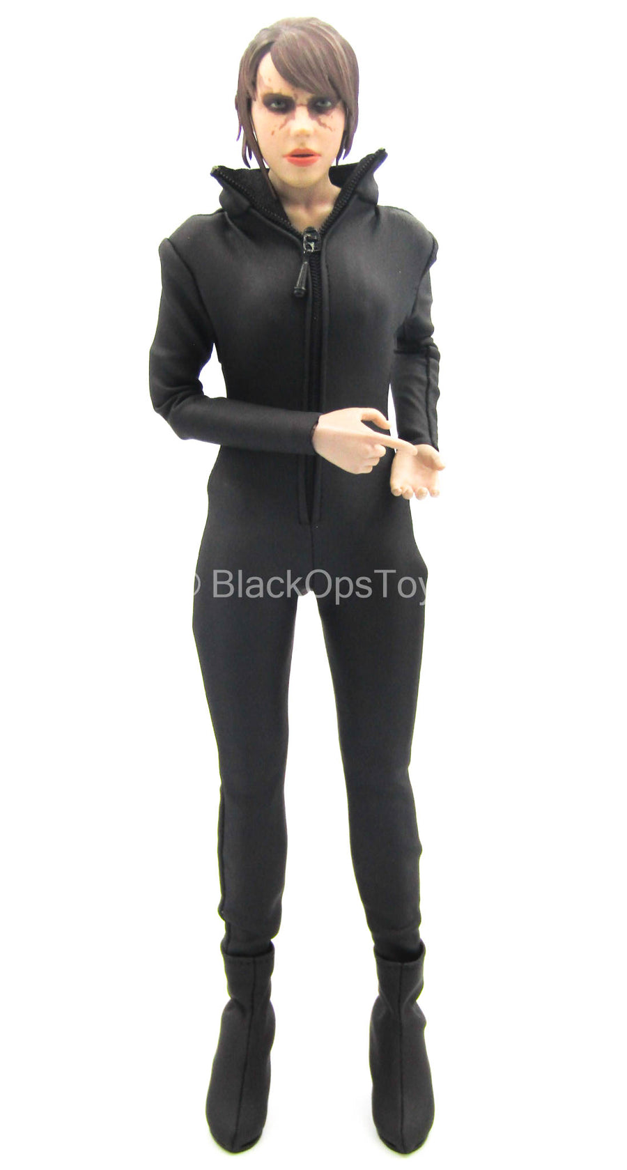 Black Full Body Suit & Corset w/Hand Set & Boots