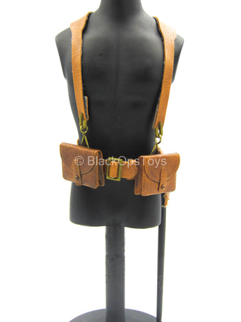WWI French Rifleman 151st reg. - Leather Like Battle Belt w/Shovel
