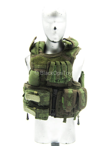 U.S. Army Rangers - OD Green RAV Assault Vest w/Pouches (Type 2)