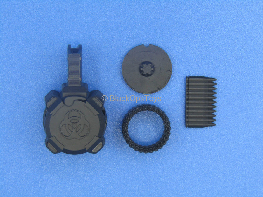 Custom - Black 5.56 Skeleton Drum Magazine