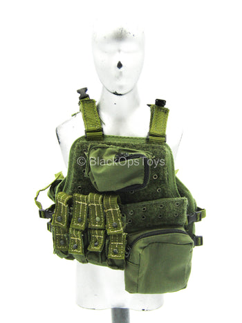 USMC 26th 1st Force Recon - OD Green Vest & Pouch Set (Type 2)