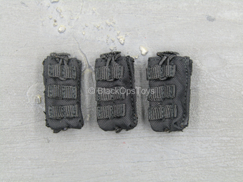 Russian - FSB Alpha Group - Black MOLLE Mag Pouch Set (x3)