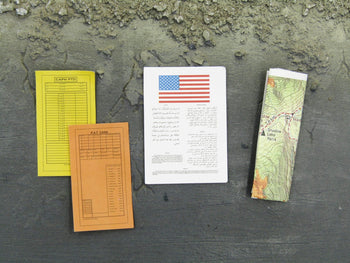 Combat U.S. Air Force Pilot Blood Chit & Escape Map Set