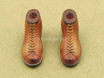 1/12 - Old Bone - Weathered Boots (Peg Type)