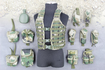 Chinese PLA - Machine Gunner - Type 07 Camo Chest Rig & Pouch Set