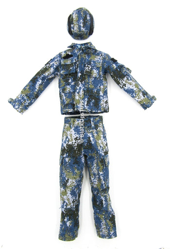 People's Liberation Army Oceanic Camo Uniform Set w/Stand