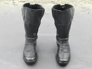 Justice League - Batman - Black Boots w/Shin Armor (Peg Type)