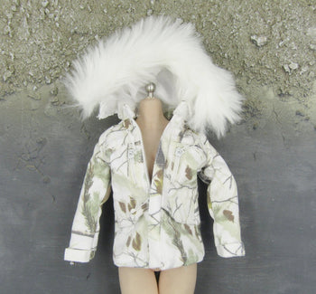 Snow Queen Shirley - Winter Camo Jacket w/Fur Lined Hood