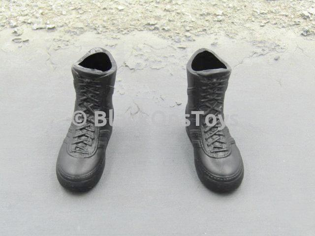 Dragon Hong Kong Police S.D.U. Wai Black Combat Boots Foot Type