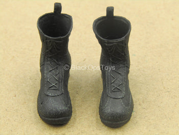 1/12 - Russian FSB Alpha - Black Boots (Peg Type)
