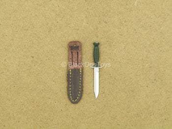 1/12 - Russian FSB Alpha - Knife w/Brown Leather-Like Sheath