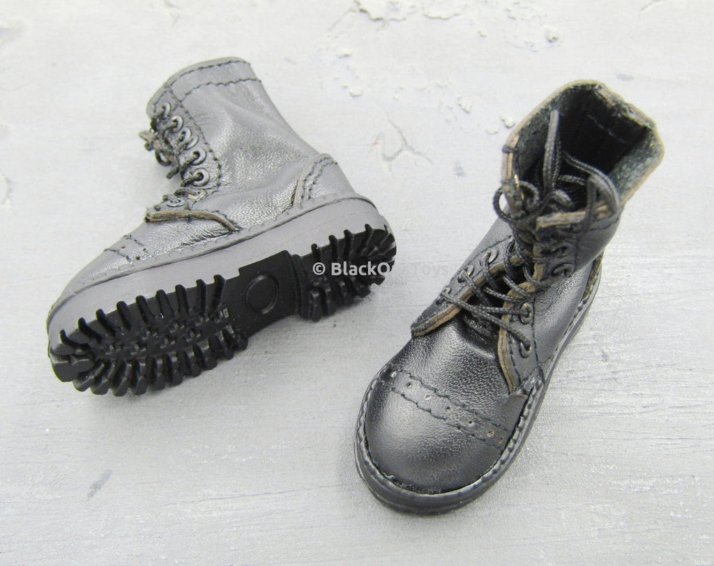 HELLBOY - Large Black Combat Boots (Foot Type)