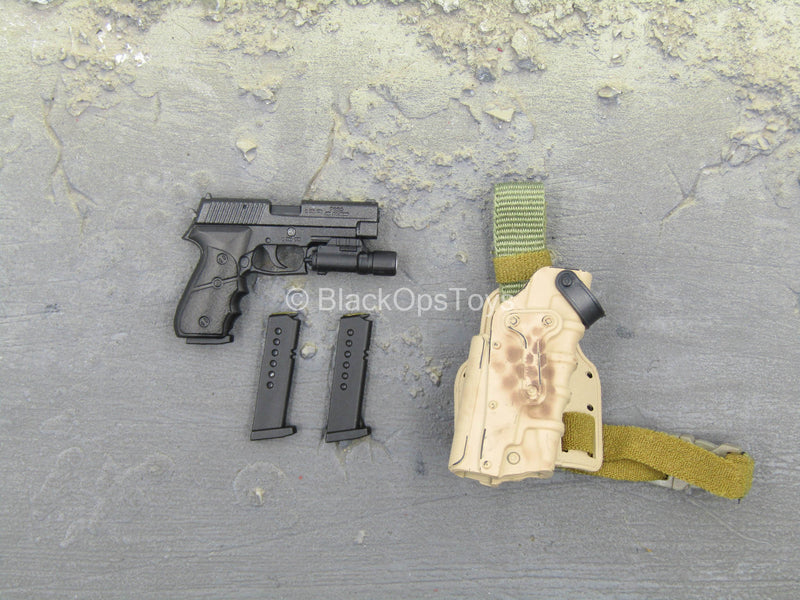 NSW Marksman Rifle - P226 Pistol w/Drop Leg Holster Type 2