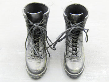 FBI Biochemical Expert - Black Molded Combat Boots (Foot Type)
