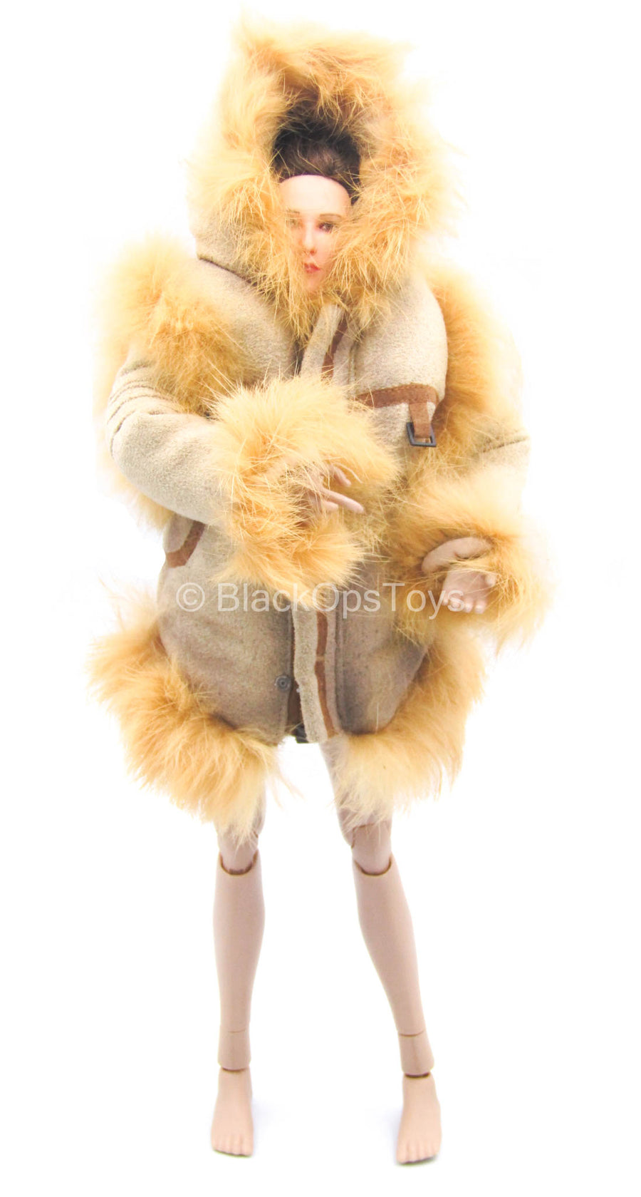 Apexplorers - Ice & Laser - Tan Fur-Like Winter Jacket