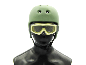 ACE - Green Bump Helmet w/Tan Goggles