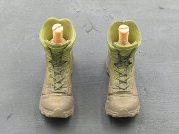 GI JOE - Rock & Roll - Tan Posed Combat Boots (Peg Type)