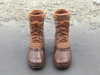 Brown Hunting Boots (Foot Type)