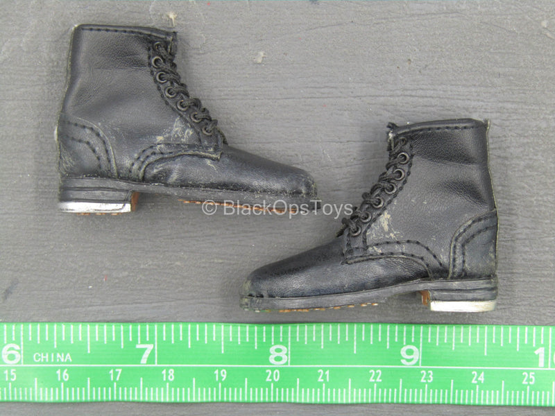 WWII - German Black Combat Boots (Foot Type)