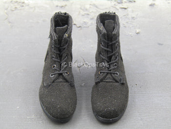 WWII - German Black Boots (Foot Type)