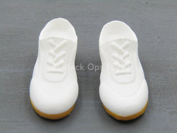 Magnetic Girl - White Mutant Prison Shoes (Peg Type)