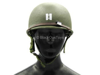 WWII - US Ranger - Metal Green Helmet