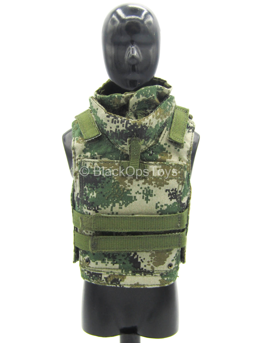PLA Desert Wolf - Woodland Type 07 Camo Plate Carrier Vest