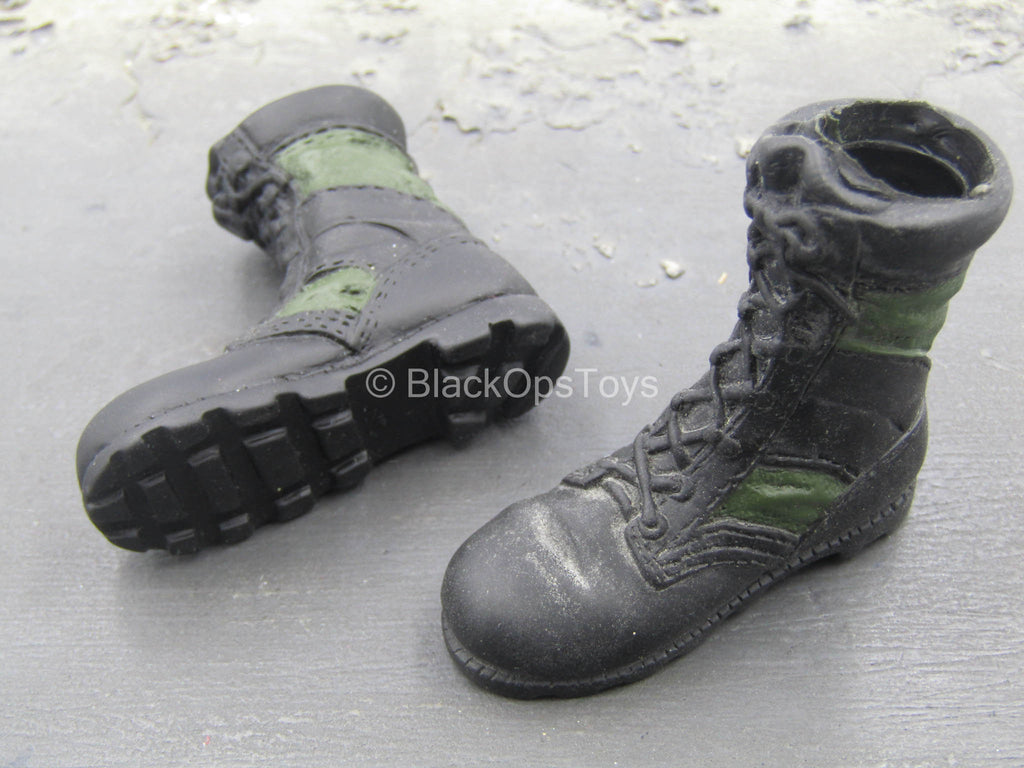 INTOYZ - Black & Green Molded Boots (Foot Type)