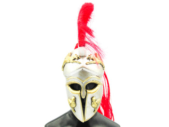 Greek Hoplite 2.0 - Metal Silver & Gold Like Corinthian Helmet