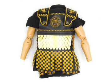 Greek Hoplite 2.0 - Black & Gold Like Linothorax Tunic