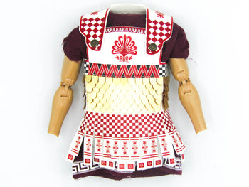 Greek Hoplite 2.0 - Red, Black & White Linothorax Tunic