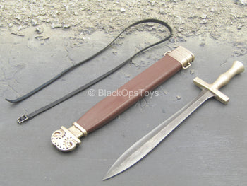 Greek Hoplite 2.0 - Die Cast Metal Sword w/Brown Sheath