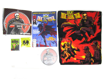 Doc Nocturnal - Comic & Sticker Set w/(L) Shirt