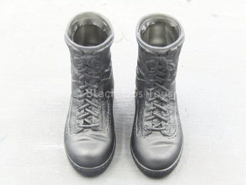 "Navy Seal ""Shark"" - Black Combat Boots (Foot Type)"