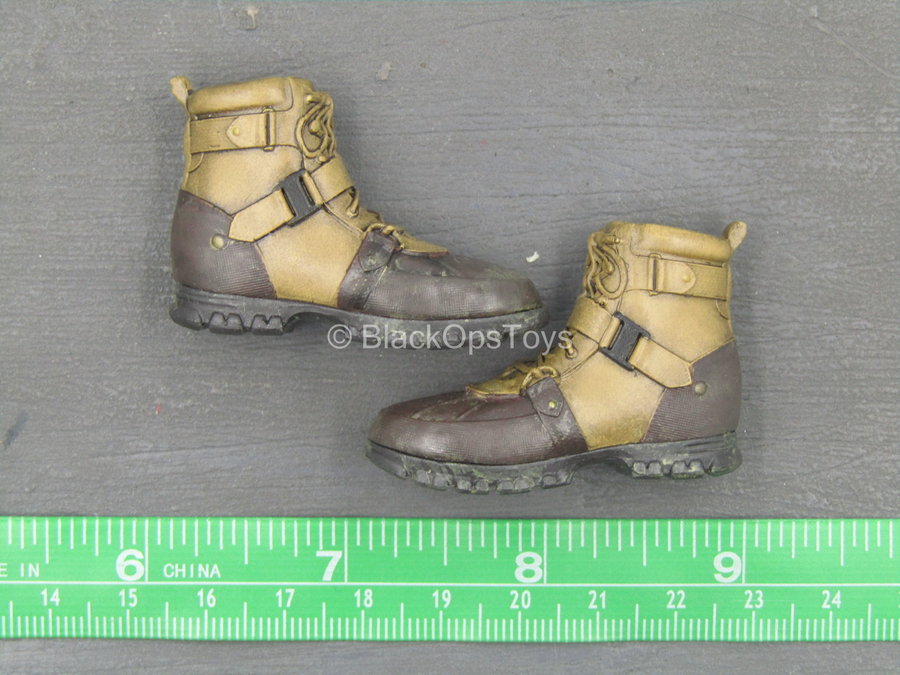 TWD - Carl Grimes - Brown Hiking Boots (Peg Type)