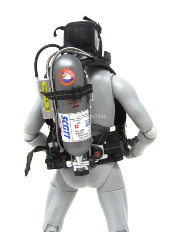 US Navy Commanding Officer O2 Tank w/ Harness & Oxygen Mask