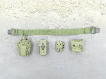 "Navy Seal ""Shark"" - OD Green Canteen & Pouch Set w/Belt"