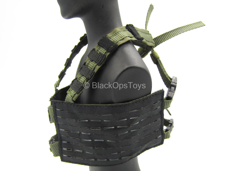 Black & Green MOLLE Tactical Chest Rig