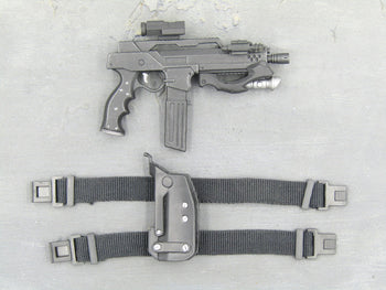 APPLESEED - Briareos - Futuristic SMG w/Drop Leg Holster (Left)