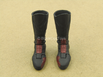 1/12 - Reverse Flash - Black & Red Boots (Peg Type)