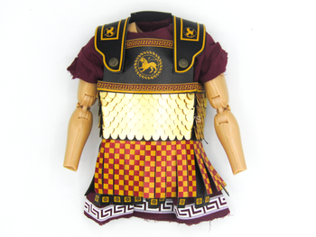 Greek Hoplite 2.0 - Red, Black & Gold Like Linothorax Tunic