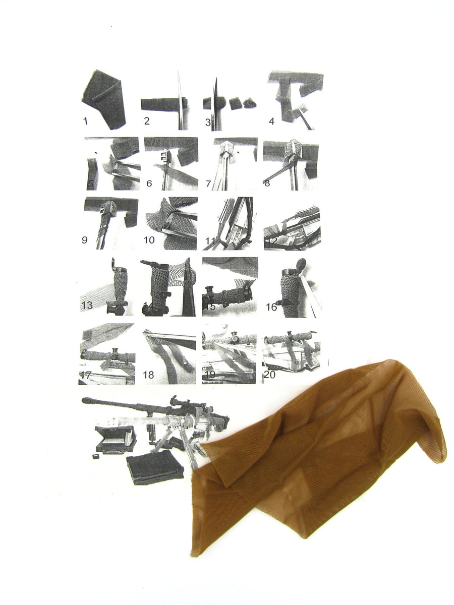 Brown Camo Tarp for Custom Designs and Instruction Sheet