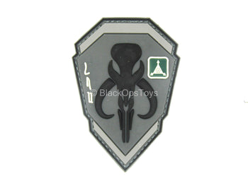 1/1 Scale - The Mandalorian - Black & Grey Bantha Skull Patch