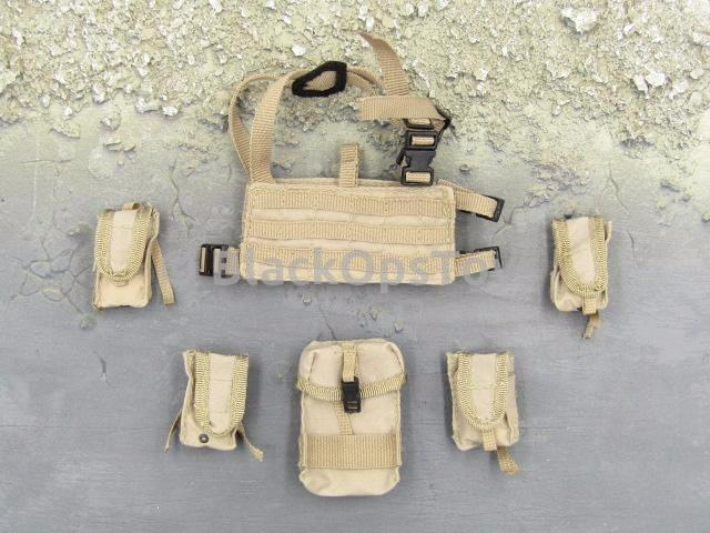 BBI Special Freedom Force Airborne Series Tan PMC Style Chest Rig & Pouches Set
